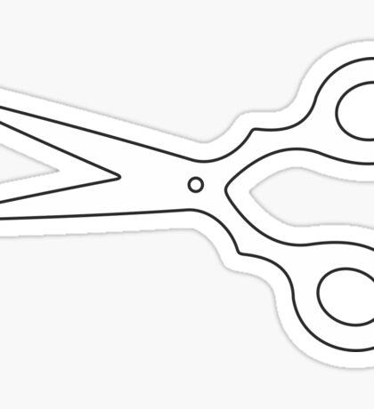 White Scissors Sticker
