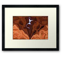 Laurel Canyon Caveface Framed Print