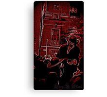 The Plague Doctors: Blood Canvas Print