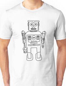 Colour in Robot B/W Unisex T-Shirt