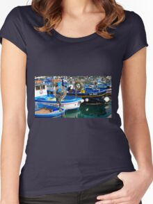 italy, boats Women's Fitted Scoop T-Shirt