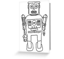 Colour in Robot B/W Greeting Card