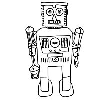 Colour in Robot B/W Photographic Print