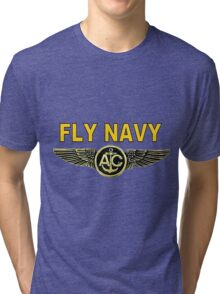 Navy Aircrew Wings for Dark Colors Tri-blend T-Shirt