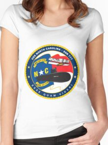 SSN-777 USS North Carolina Women's Fitted Scoop T-Shirt