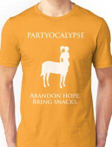 "Partyocalypse! (""No Lies"" white design) Unisex T-Shirt"