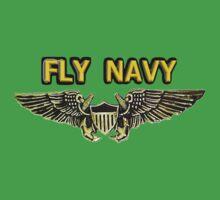 Naval Flight Officer Wings One Piece - Short Sleeve