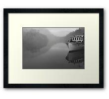 The Arcadia 2 on the Pieman River at Corinna on the West Coast , Tasmania , Australia Framed Print