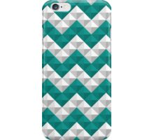 Blue and white triangles pattern iPhone Case/Skin