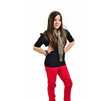 Ten year old singer/performer Photographic Print