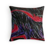 "The Black Horse ""Corruption""  Throw Pillow"