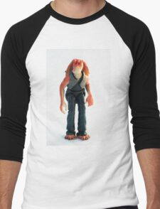 Jar Jar Star wars action figure Men's Baseball ¾ T-Shirt