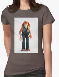 Jar Jar Star wars action figure Womens Fitted T-Shirt