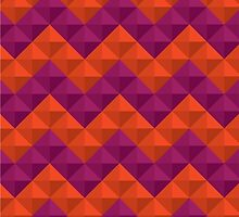 Purple and orange triangles pattern by ashkenazigal