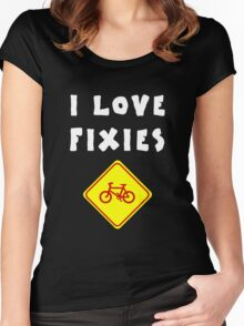 I love FIXIES Women's Fitted Scoop T-Shirt