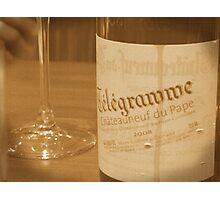 Old wine bottle Photographic Print