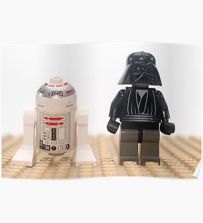 Star wars action figure Darth Vader and R2D2  Poster