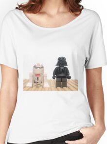 Star wars action figure Darth Vader and R2D2  Women's Relaxed Fit T-Shirt