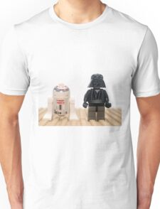 Star wars action figure Darth Vader and R2D2  Unisex T-Shirt