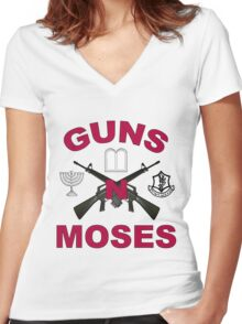 Guns 'n Moses Women's Fitted V-Neck T-Shirt