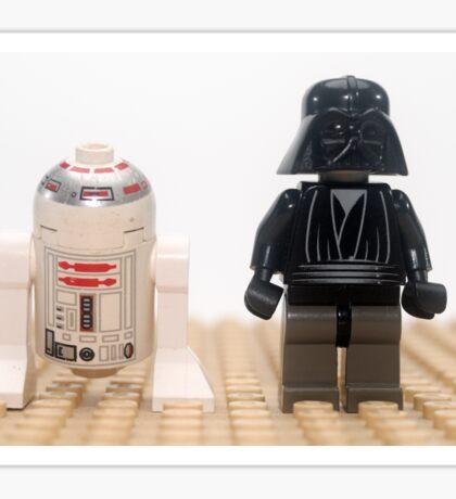 Star wars action figure Darth Vader and R2D2  Sticker
