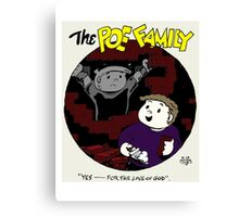The Poe Family Canvas Print