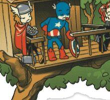 Batman And The Avengers Sticker