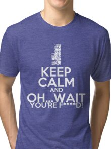Pokemon, Missingno Keep Calm Tri-blend T-Shirt