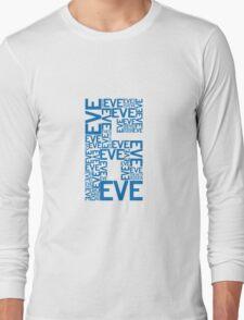 Eve 6 Typography Shirt - Blue Long Sleeve T-Shirt