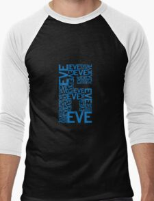 Eve 6 Typography Shirt - Blue Men's Baseball ¾ T-Shirt