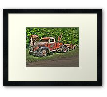 In Tow Framed Print
