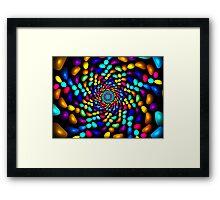 Jellybeans Twist Roll  Framed Print