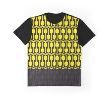 Attention Shovels Pattern Graphic T-Shirt