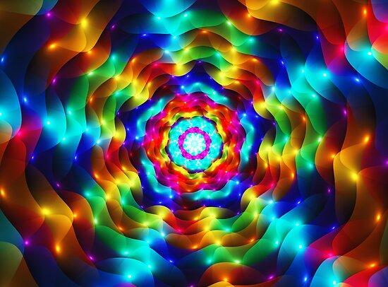 Wavy Colorful Lights by Beatriz  Cruz