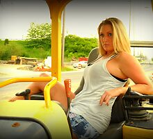 Ashley and the heavy equipment by mtphotography