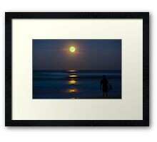 Super Moon In Manly Framed Print
