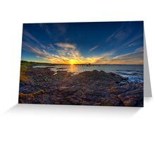 Sunset Over Bass Point v2 Greeting Card