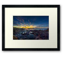 Sunset Over Bass Point v1 Framed Print