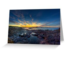 Sunset Over Bass Point v1 Greeting Card