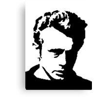 James Dean - pixel art Canvas Print