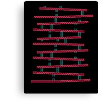 Donkey Kong stairs Canvas Print