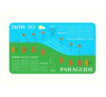 How To Paraglide — Infographic Art Print
