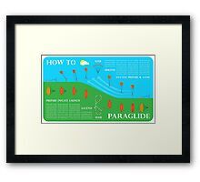 How To Paraglide — Infographic Framed Print