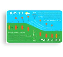 How To Paraglide — Infographic Canvas Print