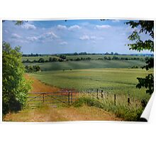 View of Rural Oxforshire - Oxfordshire, United Kingdom Poster