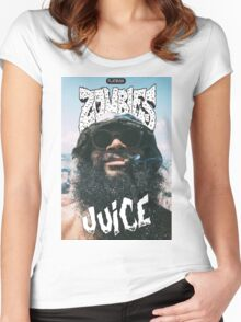 Zombie Juice Poster Women's Fitted Scoop T-Shirt