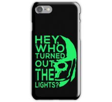 Doctor Who - Who turned out the lights iPhone Case/Skin