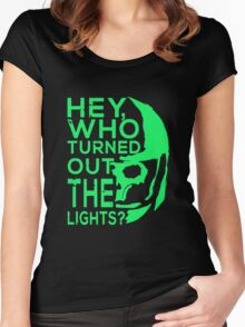 Doctor Who - Who turned out the lights Women's Fitted Scoop T-Shirt