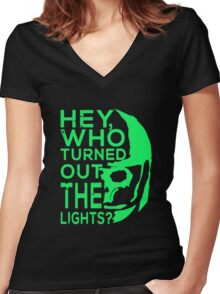 Doctor Who - Who turned out the lights Women's Fitted V-Neck T-Shirt