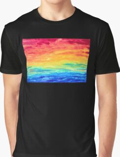 Be Love Rainbow Abstract Graphic T-Shirt